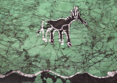 Green and black fabric